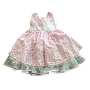 3/$25 Girls Pink Poufy Dress Size 2T